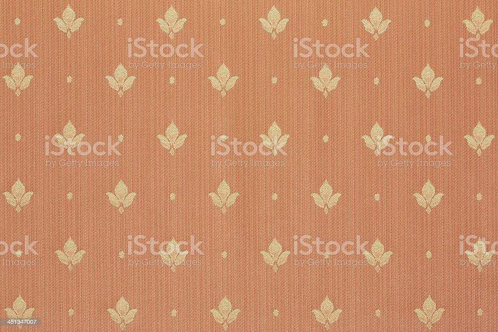 Floral fleur de lys brown wallpaper royalty-free stock photo