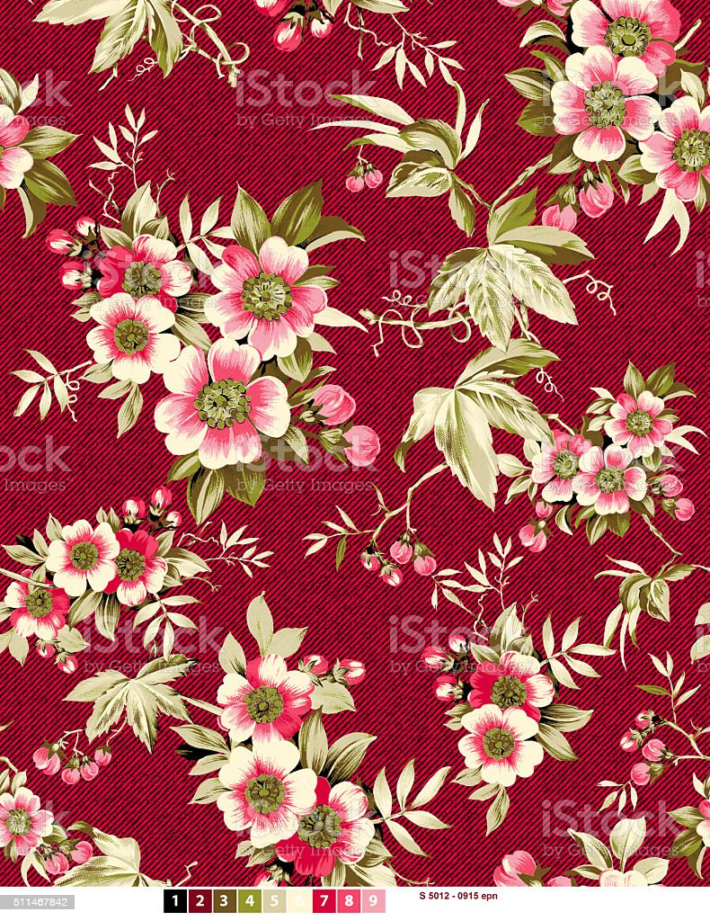 floral flower pattren stock photo