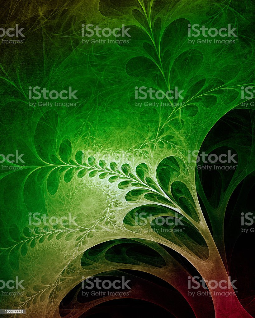 Floral fractal stock photo