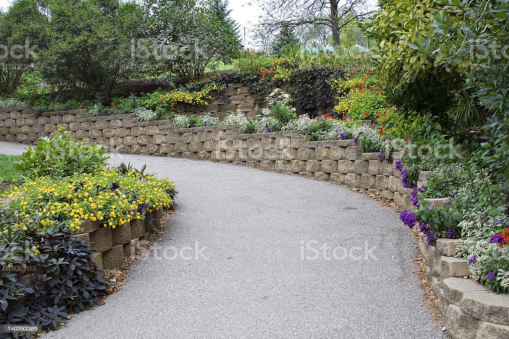 Floral Path royalty-free stock photo