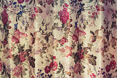 Floral pattern curtain