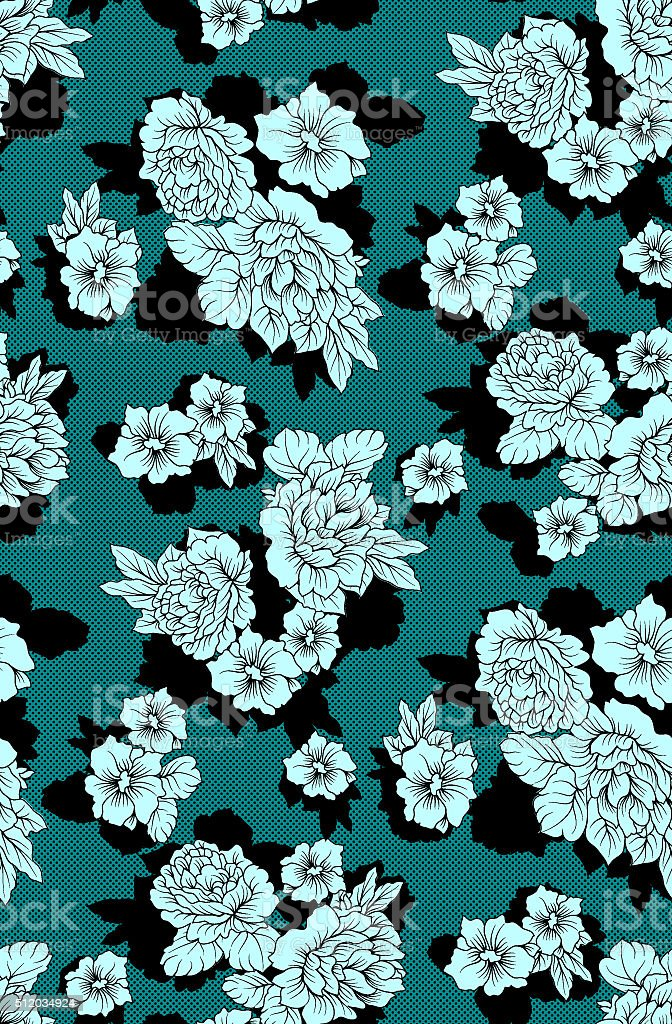 floral pattern flowers stock photo