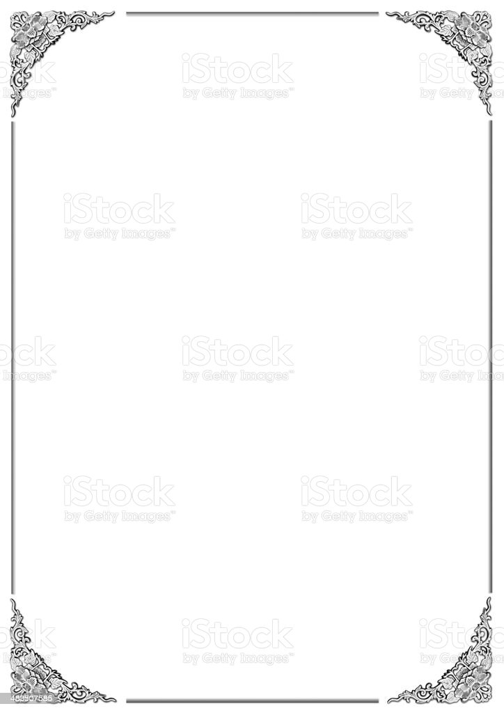 floral pattern frame stock photo