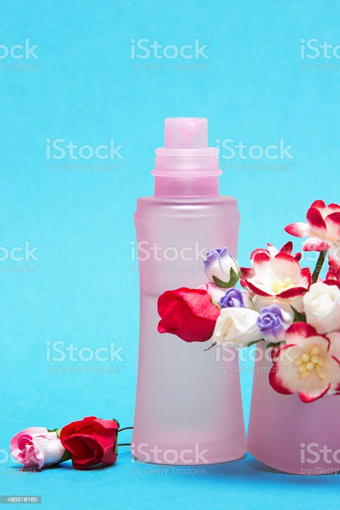 Floral perfume stock photo