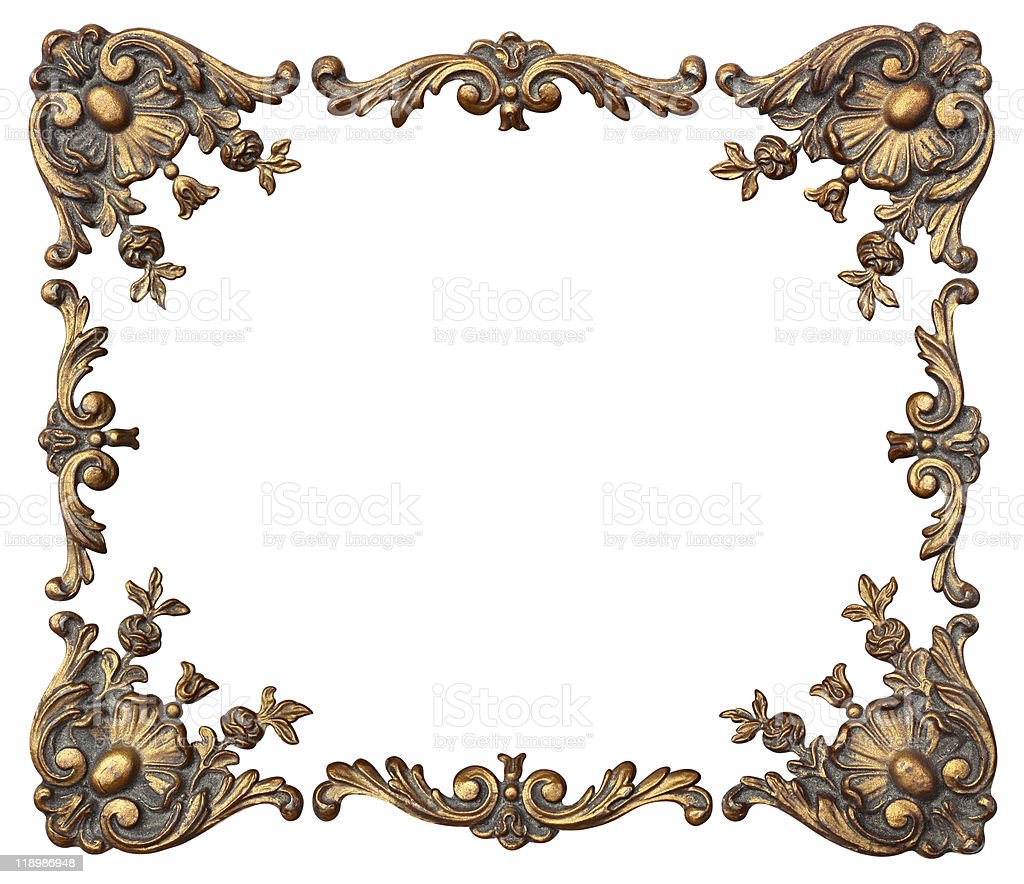 Floral Photo Frame and Corners royalty-free stock photo