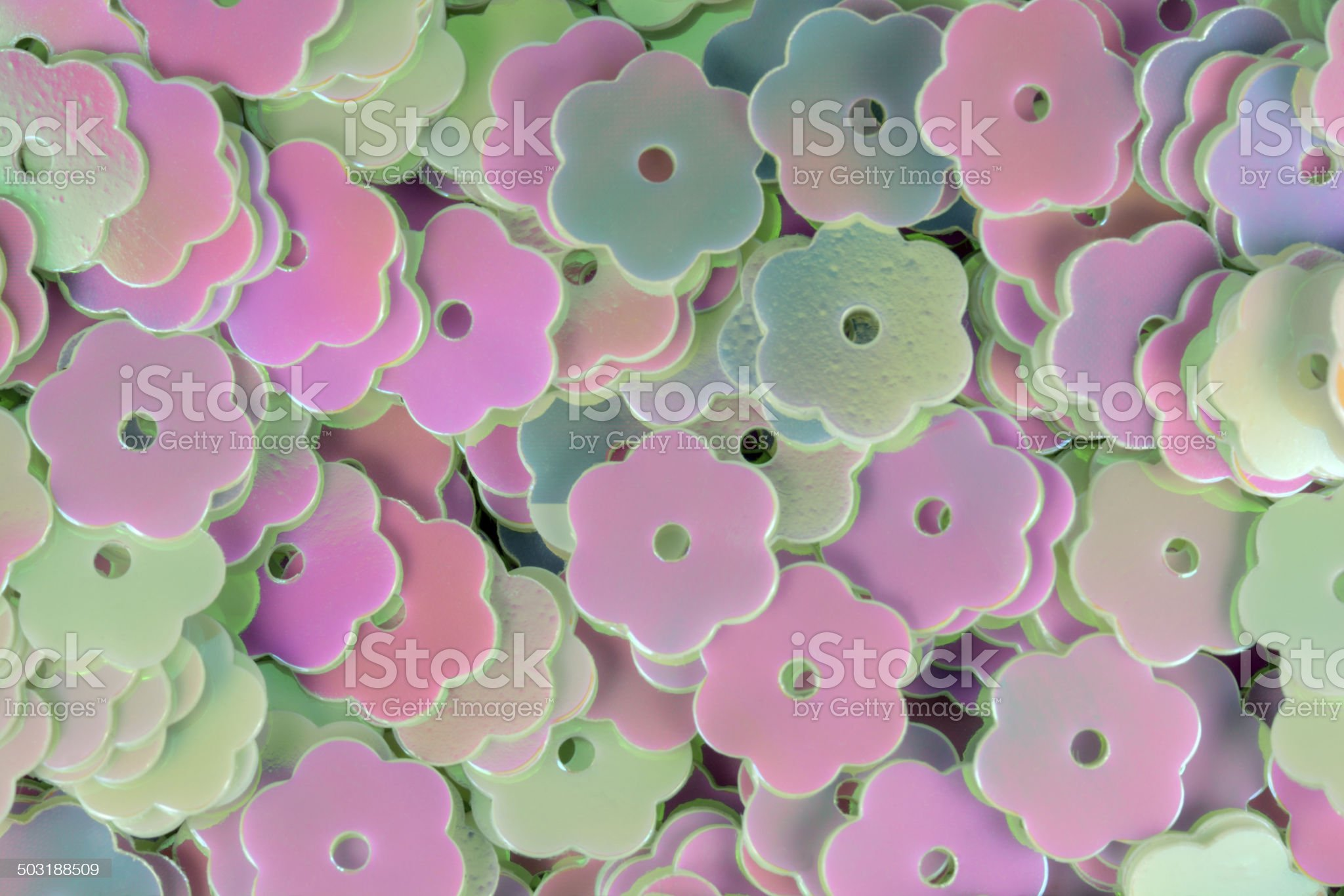 Floral Shape Sequins royalty-free stock photo