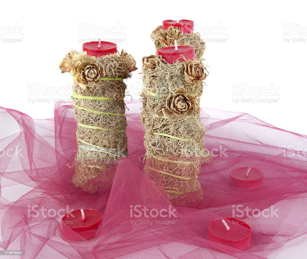 Floral table decoration, christmas wreath royalty-free stock photo