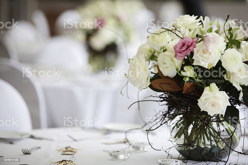Floral Table Decoration stock photo