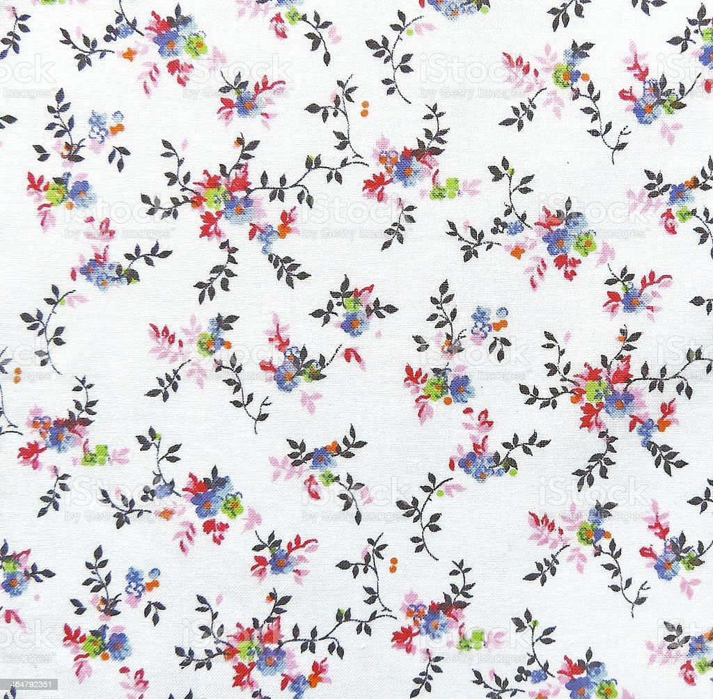 Floral textile stock photo