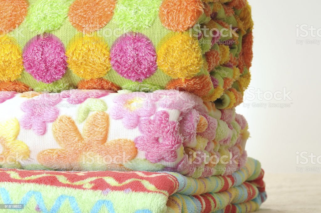 Floral towels. stock photo