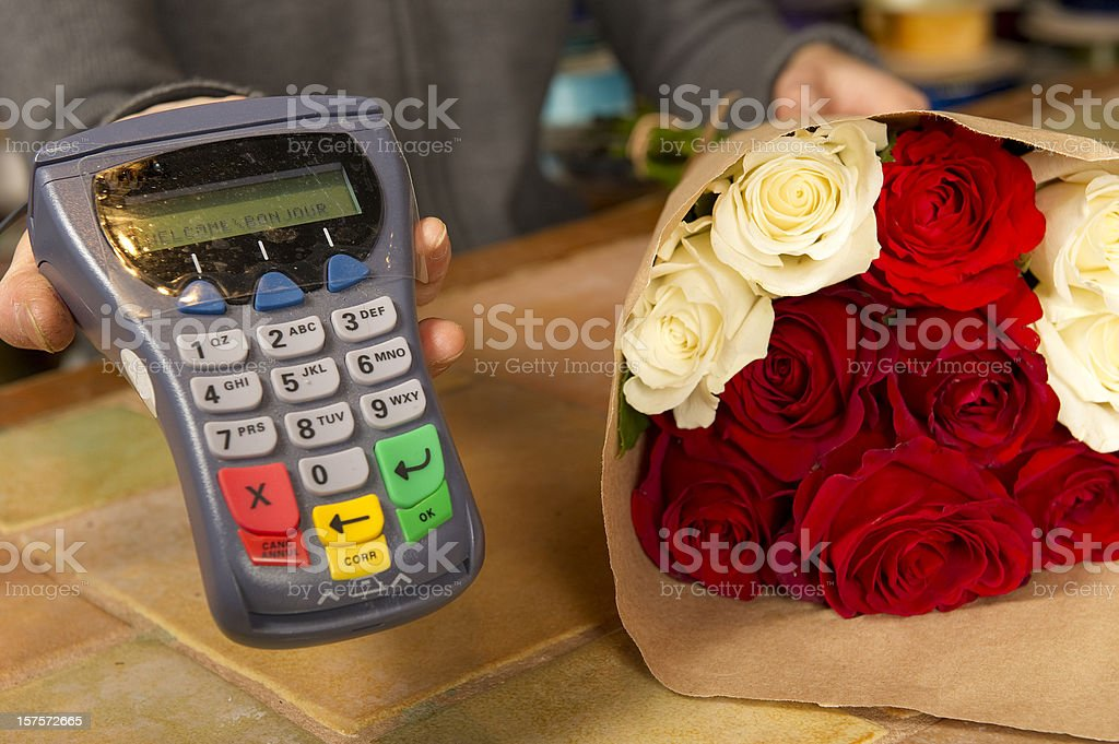 Floral Transaction royalty-free stock photo