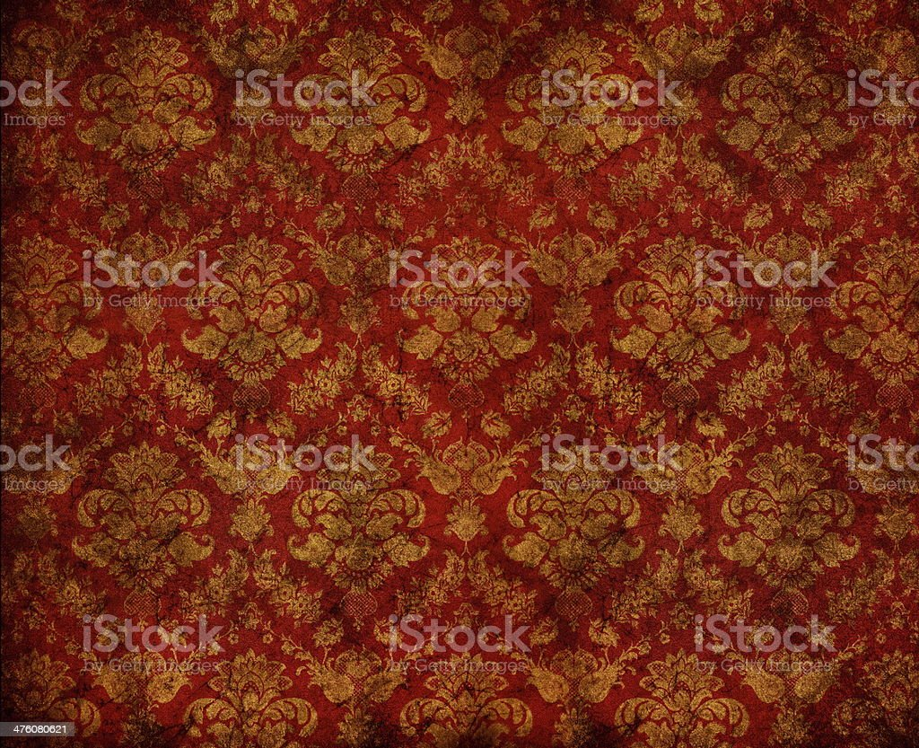 floral wallpaper stock photo