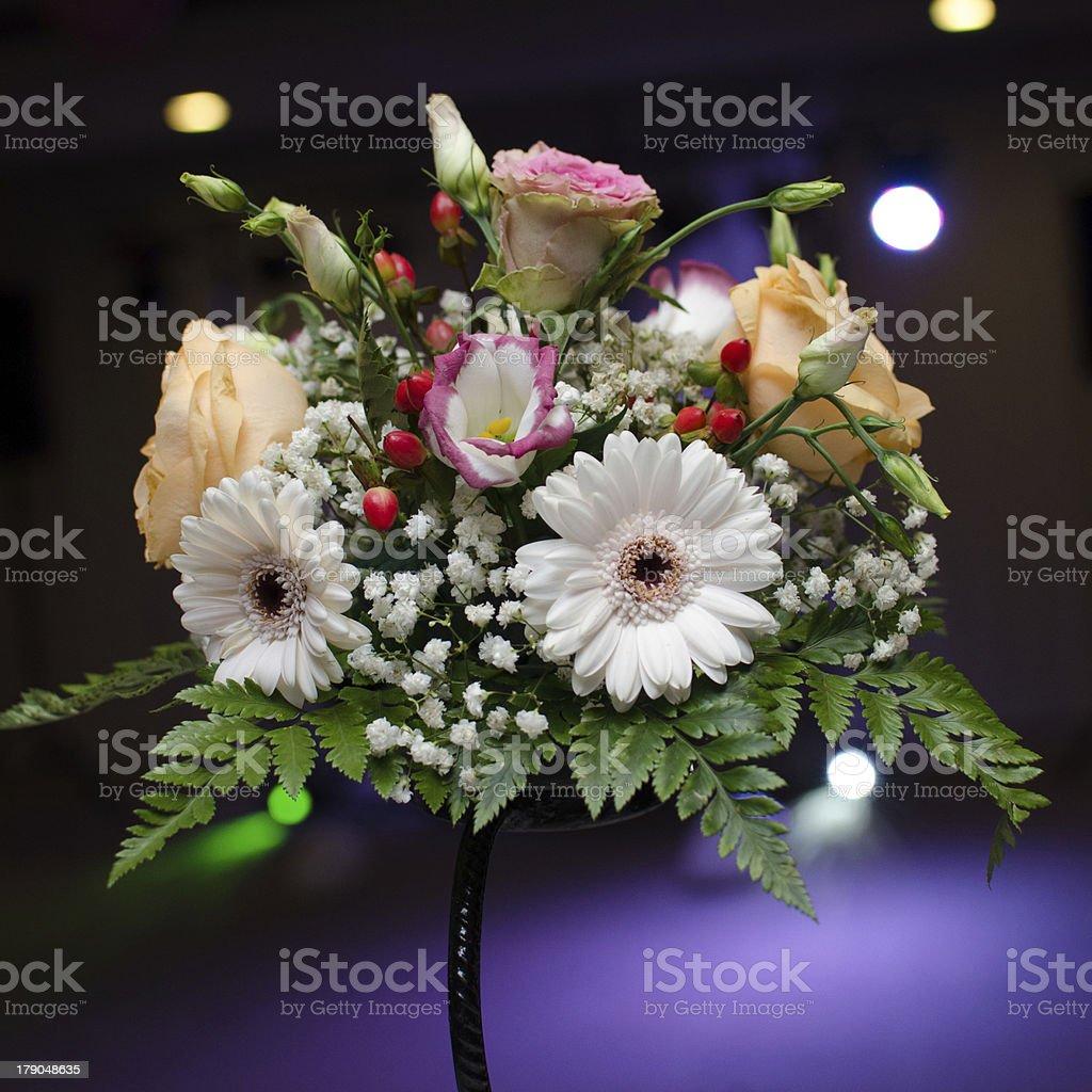 Floral wedding arrangement royalty-free stock photo