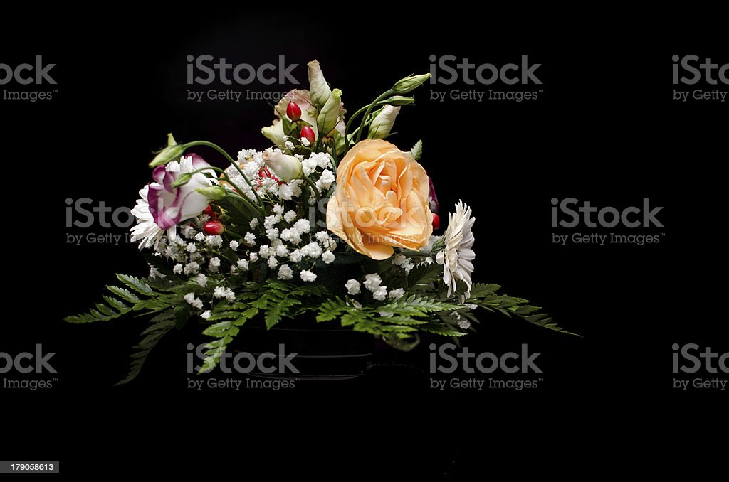 Floral wedding arrangement royalty-free stock photo
