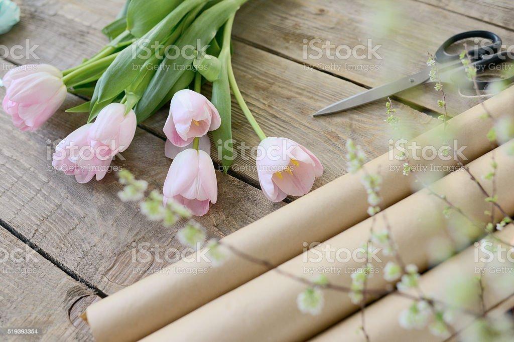 Floral workshop stock photo