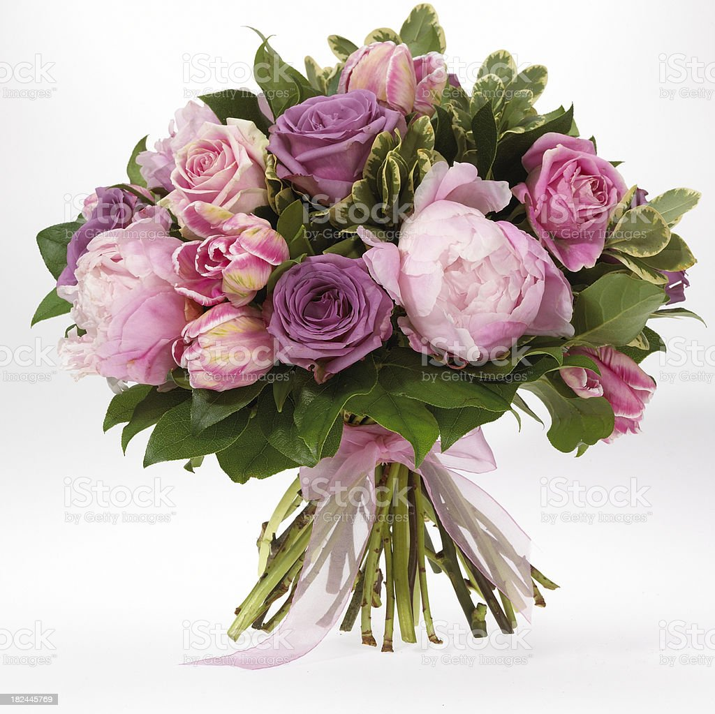 Floral-Bouquet Of Roses royalty-free stock photo