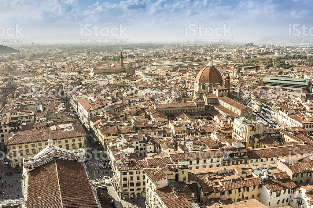 Florence aerial view royalty-free stock photo