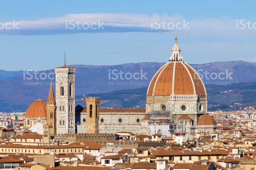 Florence aerial view, tuscany, Italy stock photo