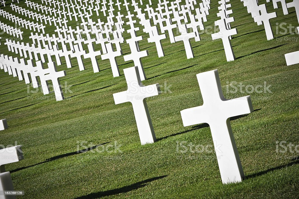 Florence American Cemetery and Memorial, Italy royalty-free stock photo