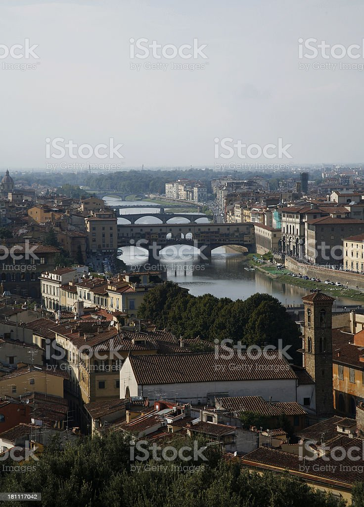 Florence And All It's Bridges stock photo