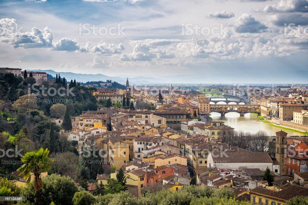 Florence and the bridge Ponte Vecchio royalty-free stock photo