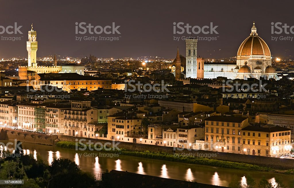 Florence at night royalty-free stock photo