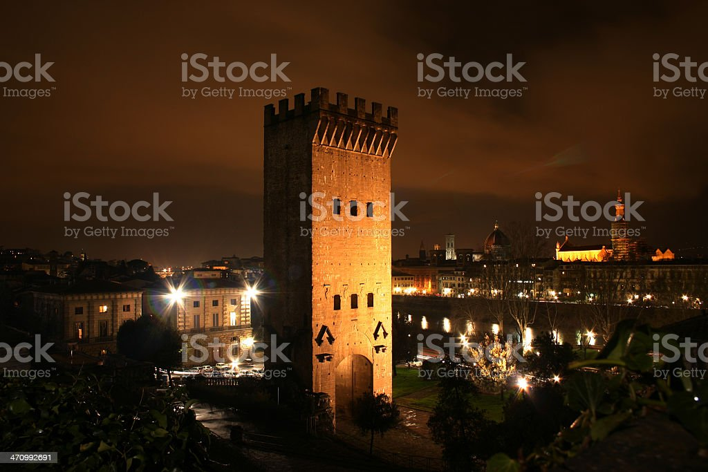 Florence  at Night royalty-free stock photo