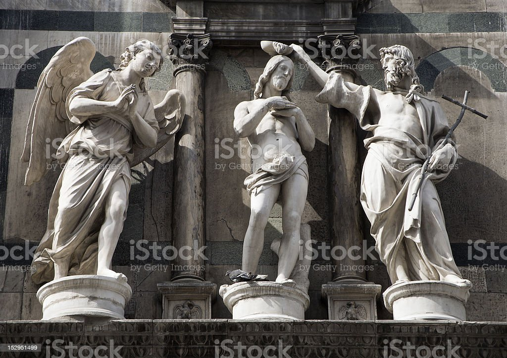 Florence - baptism of Jesus Christ royalty-free stock photo