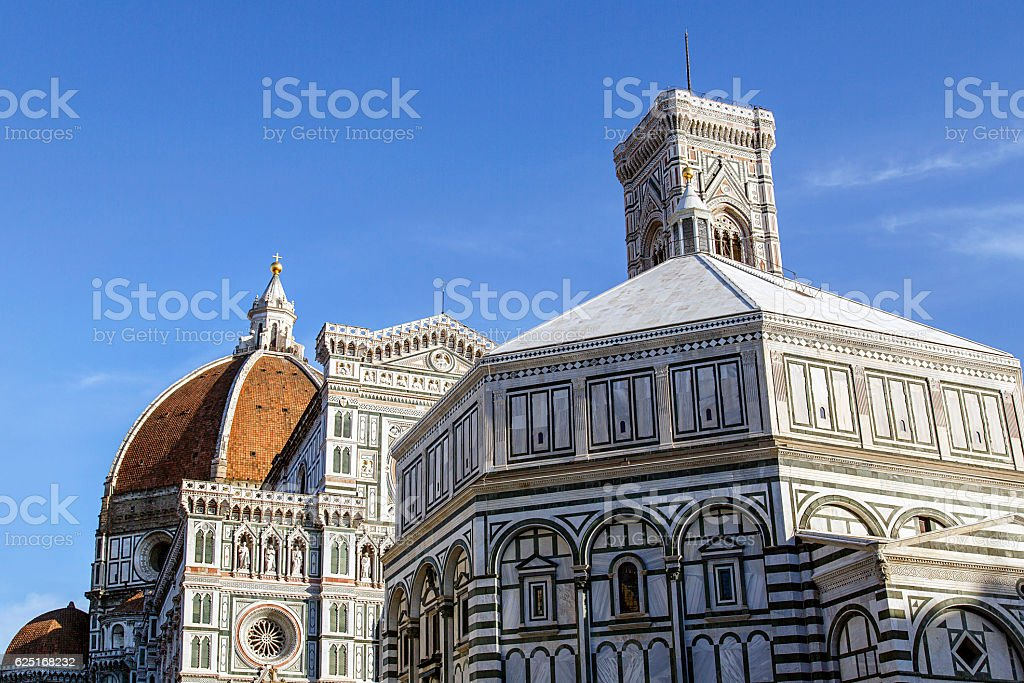 Florence Baptistery stock photo