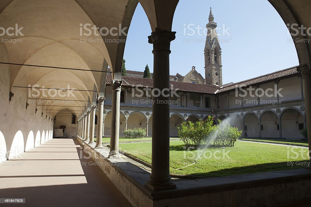 Florence - basilica of Santa Croce. royalty-free stock photo