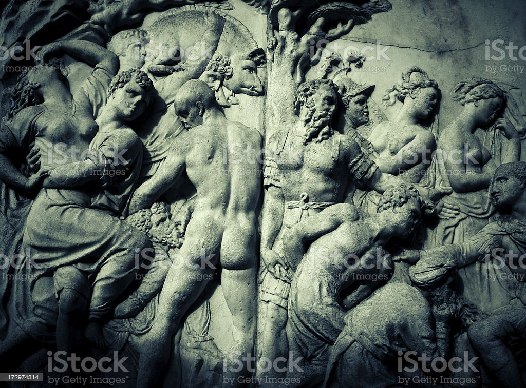 florence bas-relief stock photo