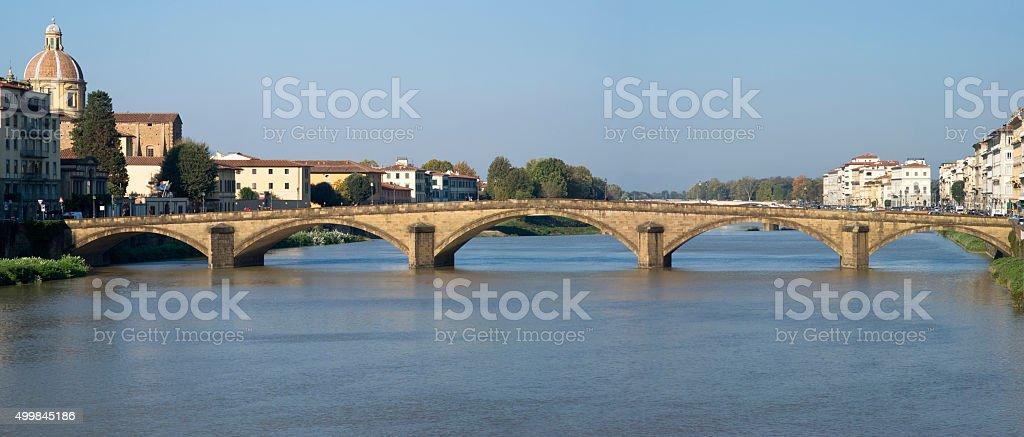 Florence. Bridge on the Arno river stock photo