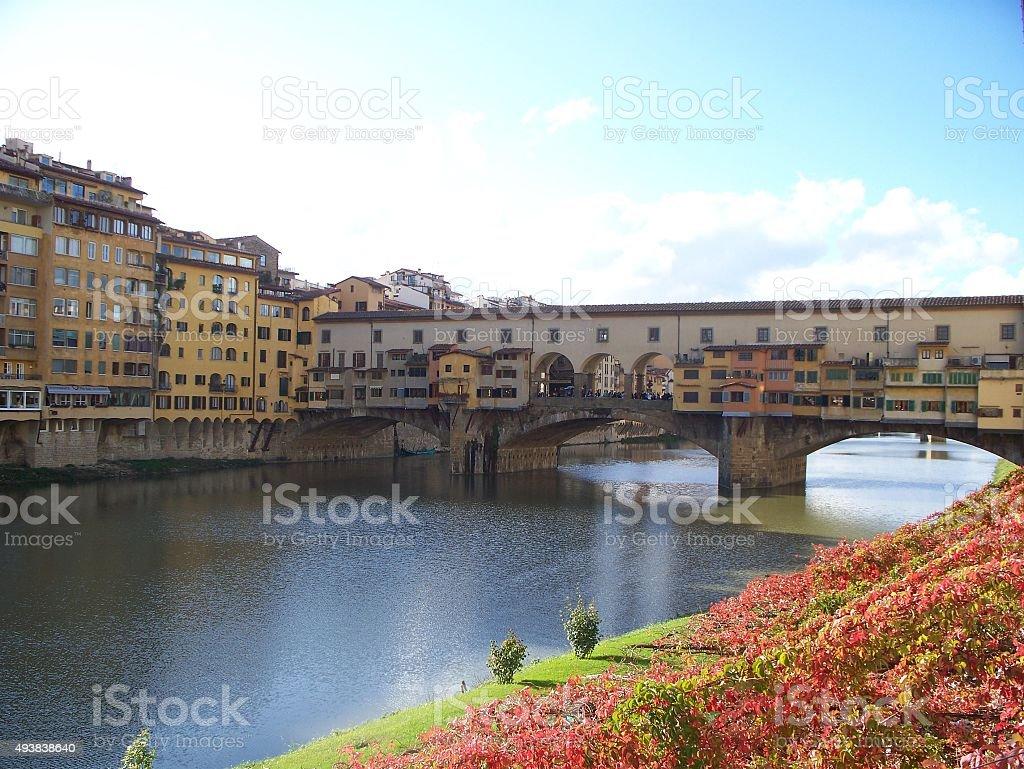 Florence 구름다리-베키오 다리 royalty-free 스톡 사진