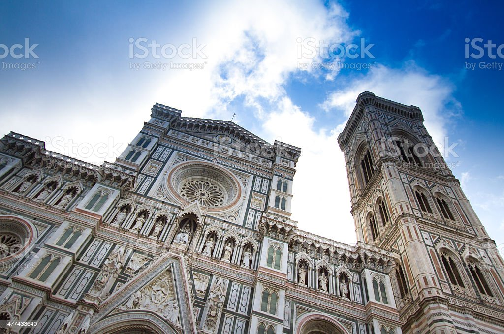 Florence Cathedral and Campanile, Florence, Italy (Close Up) stock photo
