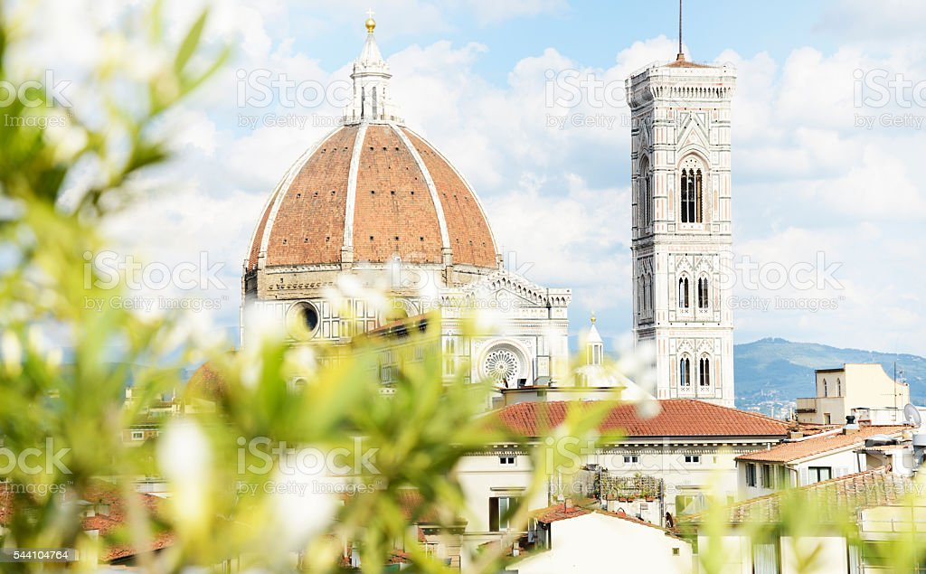 Florence Cathedral and Giotto Campanile stock photo