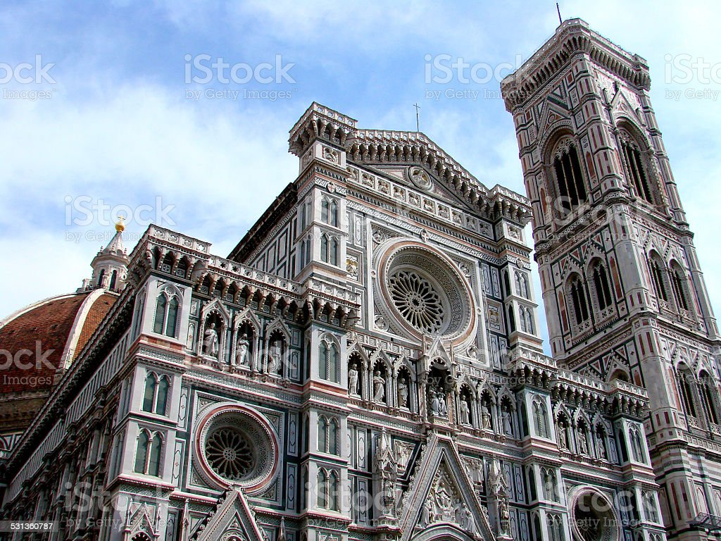 Florence cathedral Del Fiore stock photo