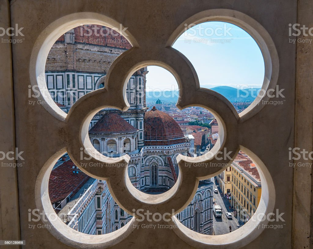 Florence Cathedral from Giotto's Campanile stock photo