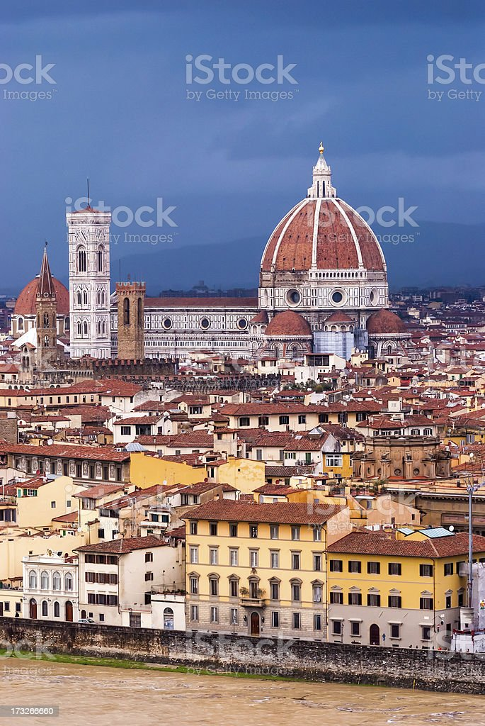 Florence Cathedral (Basilica di Santa Maria del Fiore) royalty-free stock photo