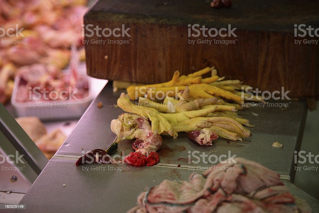 Florence: Chicken Parts stock photo