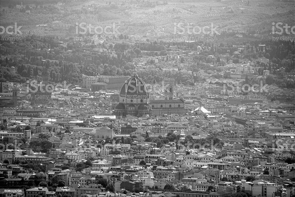 Florence cityscape and Santa Maria del Fiore cathedral, Tuscany stock photo