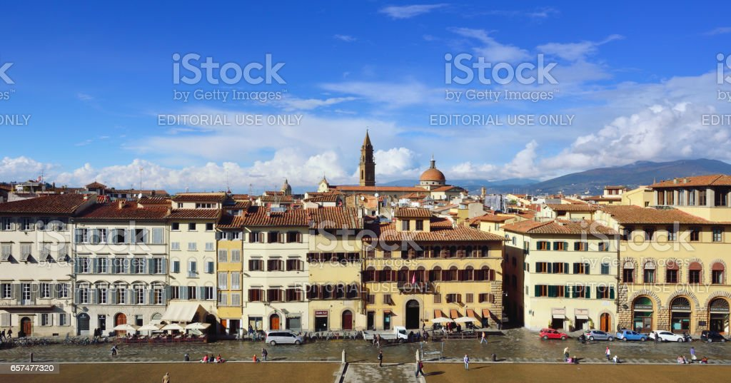 Florence Cityscape at Sunny Day, Italy stock photo
