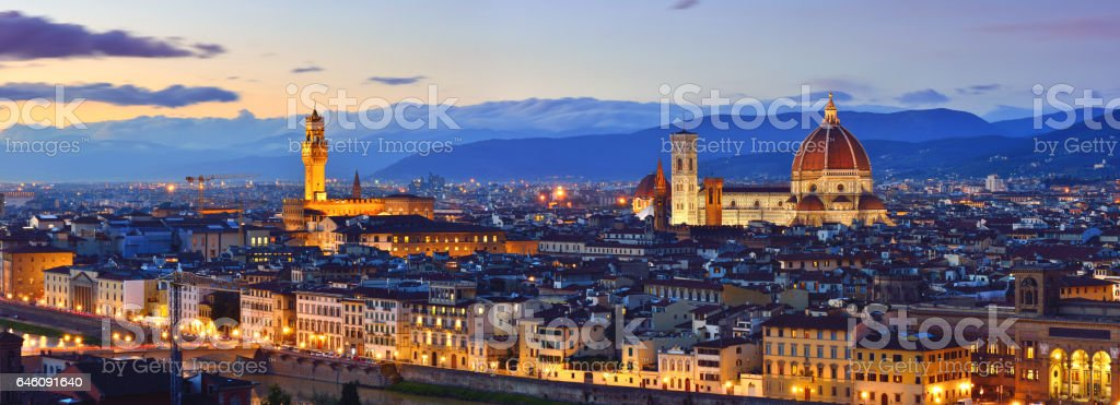 Florence Cityscape Panorama stock photo