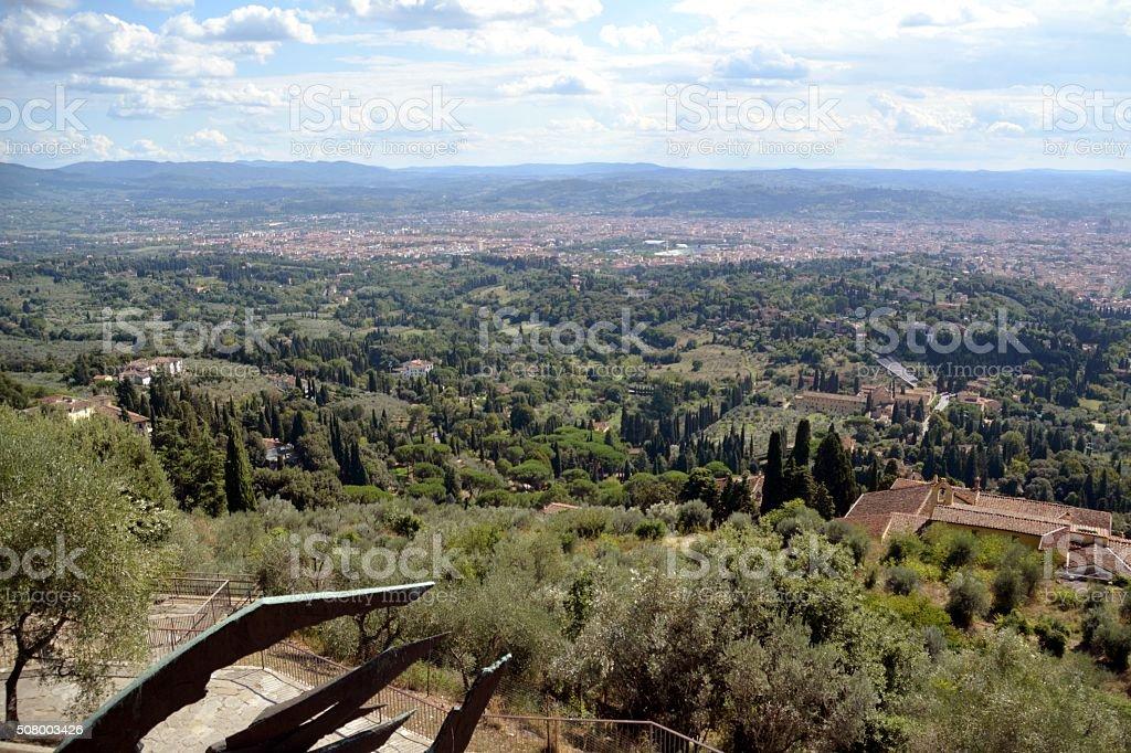 Florence cityscape, Tuscany Italy stock photo