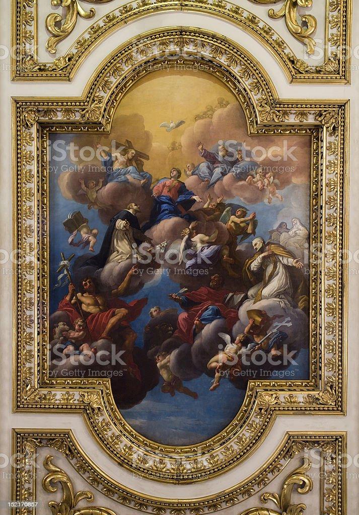 Florence - coronation of hl. Mary royalty-free stock photo