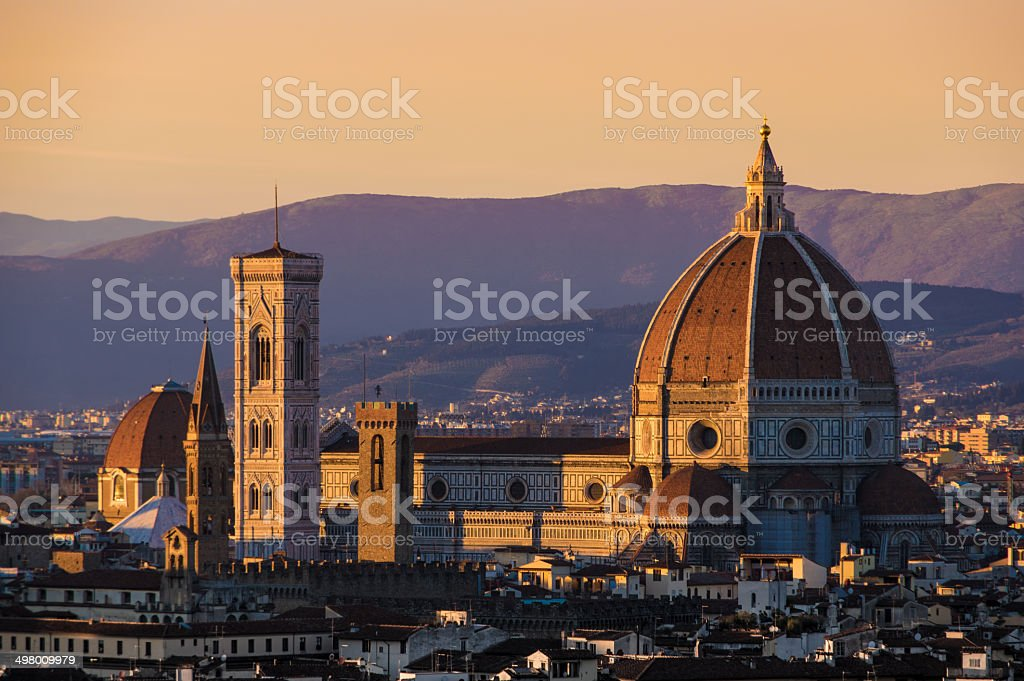 Florence Duomo e Giotto, o Campanile foto royalty-free