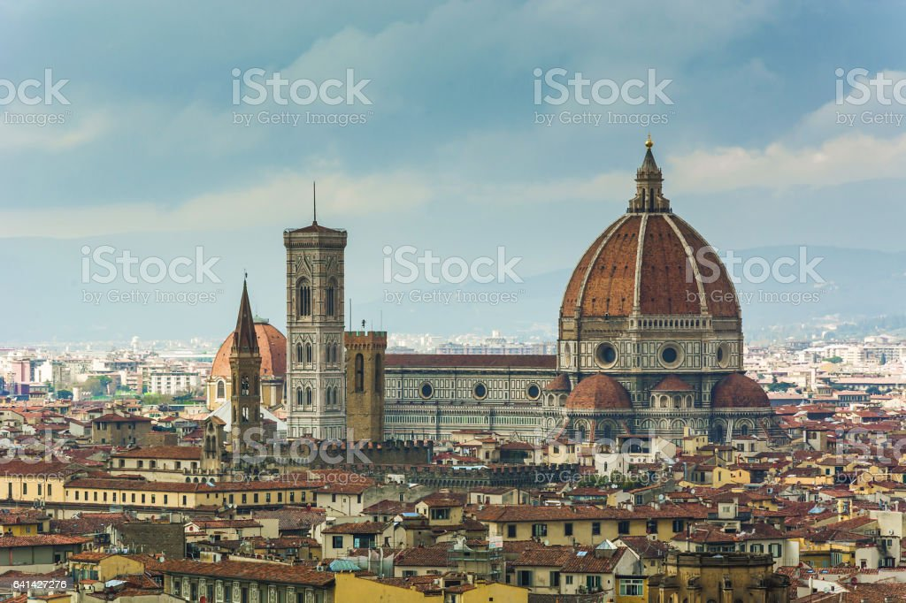Florence Duomo and tower bell stock photo