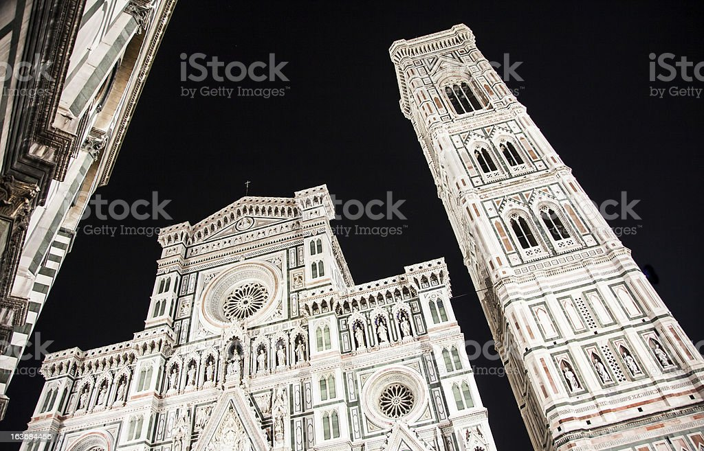 Florence Duomo by night royalty-free stock photo