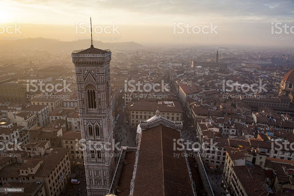 Florence Duomo Campanile tower, Italy royalty-free stock photo