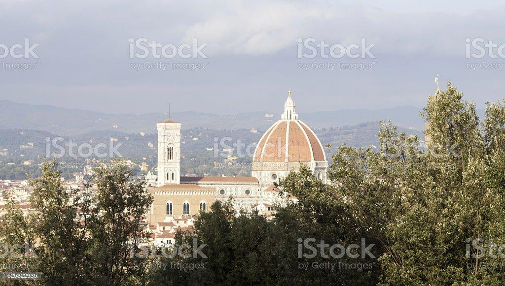 Florence Duomo from the Boboli Gardens stock photo