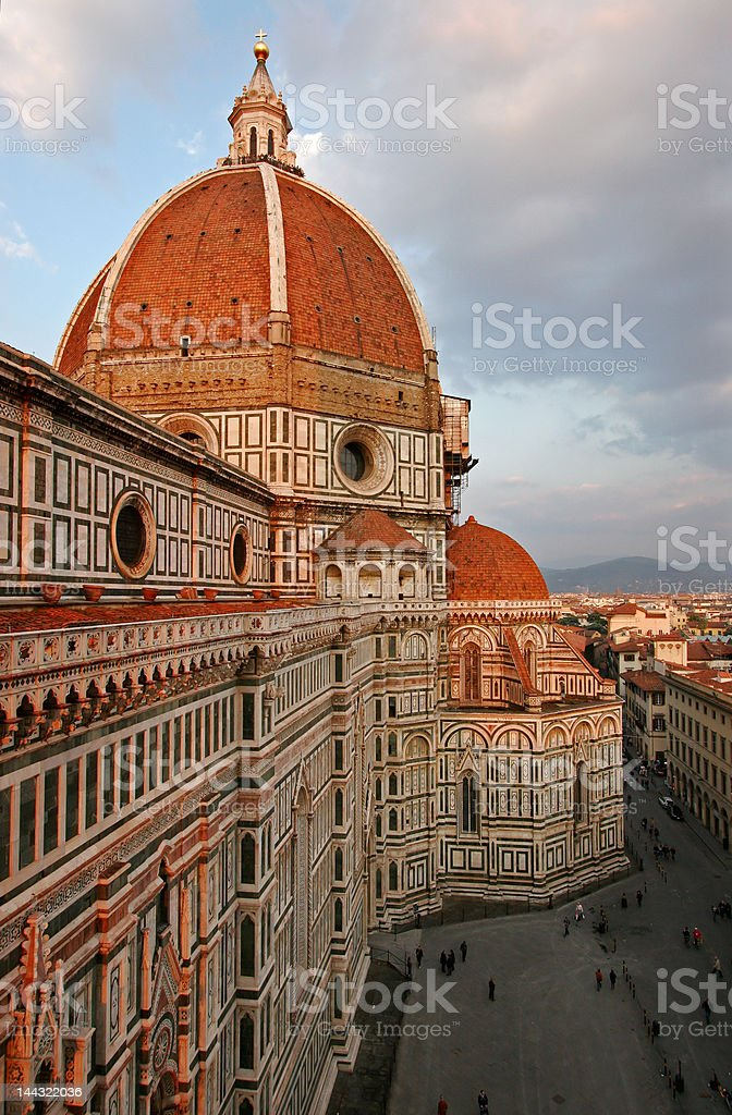 Florence Duomo viewed from Campanile tower stock photo